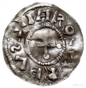 Jaromir 1003-1034, denar, Aw: Krzyż o ramionach zakończ...