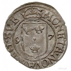 1/2 öre 1597, Sztokholm, odmiana napisu na awersie ...S...