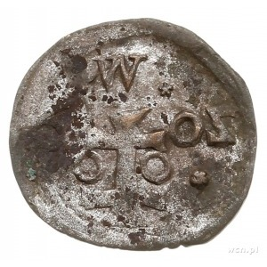 denar 1602, Wschowa, Aw: Orzeł, Rw: Herb Wschowy i data...