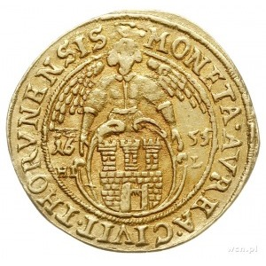 dukat 1655, Toruń, Aw: Popiersie króla i napis wokoło I...
