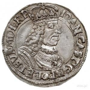 ort 1662, Toruń, moneta wybita uszkodzonym stemplem, pa...