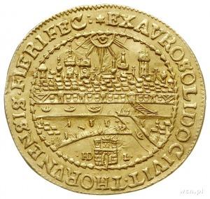 dwudukat bez daty (donatywa), Toruń, Aw: Popiersie król...