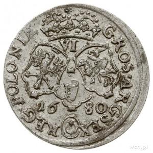 szóstak 1680, Bydgoszcz, na awersie litery TLB pod popi...