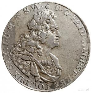 talar 1718, Drezno, Aw: Popiersie w prawo i napis wokoł...