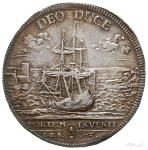 2/3 talara (gulden) 1717, Drezno, Aw: Napis w 14 wiersz...