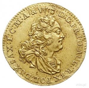 dukat 1745, Drezno, Aw: Popiersie króla w prawo i napis...