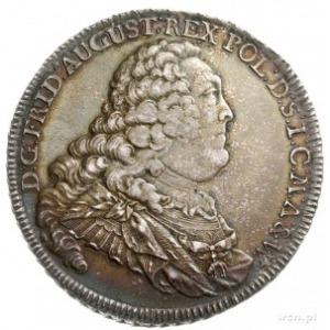 talar 1757, Drezno, Aw: Popiersie króla w długiej peruc...