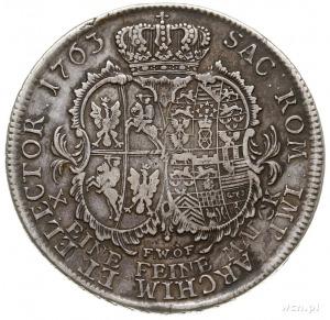 talar 1763, Drezno, Aw: Popiersie w prawo i napis wokoł...
