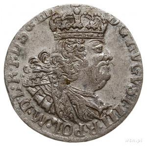 szóstak 1761, Gdańsk, Kahnt 730.a -szeroka korona w her...