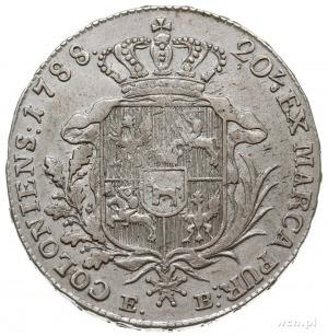 półtalar 1788, Warszawa, Plage 371, minimalnie justowan...