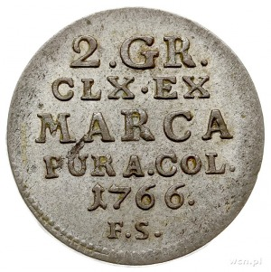 2 grosze srebrne (półzłotek) 1766, Warszawa, Plage 242