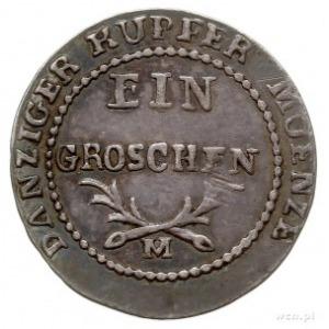 grosz 1812, Gdańsk, odbitka w srebrze 1.86 g, Plage 49,...