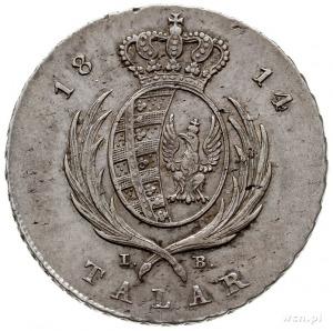 talar 1814, Warszawa, srebro 22.94 g, Plage 116, Dav. 2...