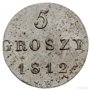 5 groszy 1812, Warszawa, Plage 97, przebitka z 1/24 tal...