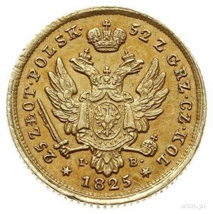 25 złotych 1825, Warszawa, złoto 4.89 g, Plage 18, Bitk...