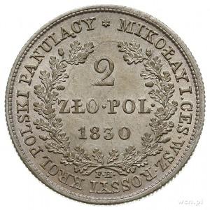 2 złote 1830, Warszawa, Plage 61, Bitkin 995, piękne