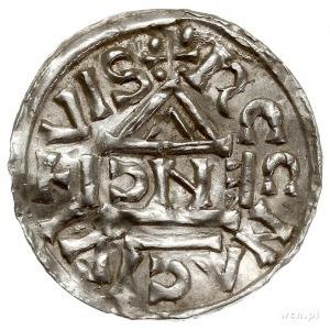 Henryk II 1002-1024, denar 1002-1009, Ratyzbona, mincer...