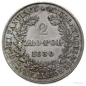 2 złote 1830, Warszawa, Plage 61, Bitkin 995, delikatni...