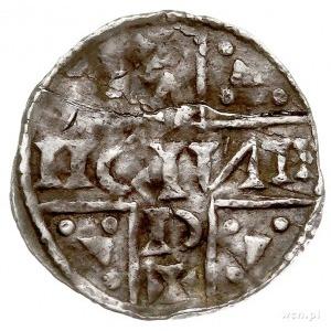 Henryk V Mozelski 1018-1026, denar 1018-1026, Ratyzbona...