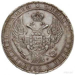 1 1/2 rubla = 10 złotych 1835/3, Petersburg, przebitka ...