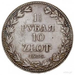 1 1/2 rubla = 10 złotych 1835, Warszawa, Plage 320, Bit...