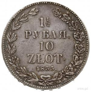 1 1/2 rubla = 10 złotych 1835, Petersburg, Plage 321 -p...