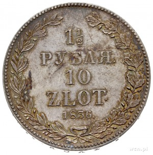 1 1/2 rubla = 10 złotych 1836, Petersburg, Plage 325 -p...