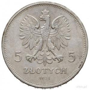 """5 złotych 1931, Warszawa, """"Nike"""", Parchimowicz 114.d, p..."""