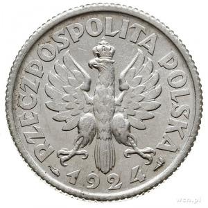 1 złoty 1924, Paryż, Parchimowicz 107.a, bardzo ładne