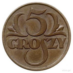 5 groszy 1928, Warszawa, Parchimowicz 103.c, piękne