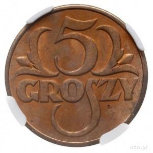 5 groszy 1931, Warszawa, Parchimowicz 103.e, moneta w p...