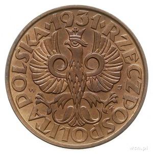2 grosze 1931, Warszawa, Parchimowicz 102.f, wyśmienite...