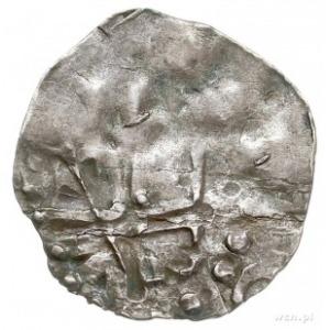 Trewir, arcybiskup Poppo 1016-1047, denar, Aw: Krzyż z ...