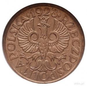 1 grosz 1928, Warszawa, Parchimowicz 101.d, moneta w pu...