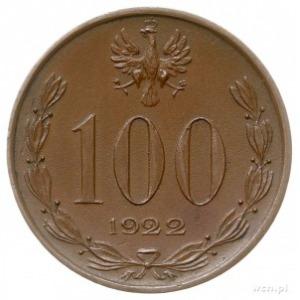 100 marek (bez nominału) 1922, Warszawa, Józef. Piłsuds...