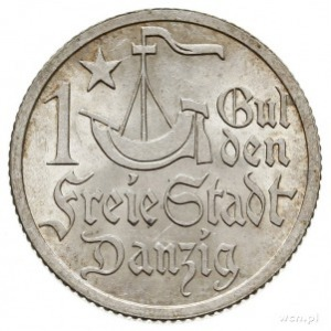 1 gulden 1923, Utrecht, Koga, Parchimowicz 61.a, wyśmie...