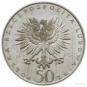 50 złotych 1972, Warszawa, Fryderyk Chopin, na rewersie...