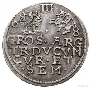 trojak 1598, Mitawa, Iger KuF.98.1.b (R6), Gerbaszewski...