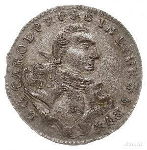 Karol Krystian Saski 1759-1762, grosz 1762, Mitawa, tar...