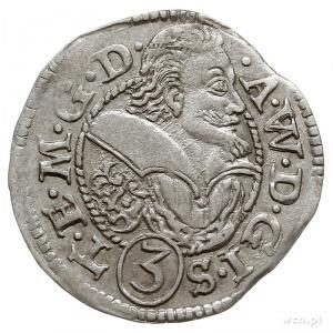 Adam Wacław 1579-1617, 3 krajcary 1611, Skoczów, po dac...