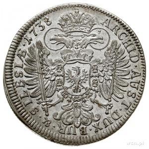15 krajcarów 1738, Wrocław, F.u.S. 920, Herinek 652, pi...
