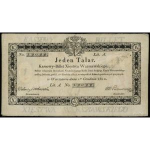 1 talar 1.12.1810, podpis komisarza Walenty Sobolewski,...