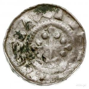 anonimowi biskupi, denar krzyżowy XI w., Aw: Krzyż patr...