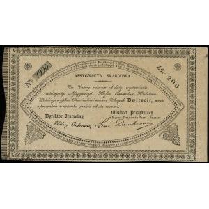 asygnacja skarbowa na 200 złotych 1831, numeracja 1990,...