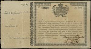 Posiłki Polskie, pożyczka na 600 złotych polskich 1831,...