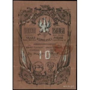10 złotych (1853), seria D, numeracja 1449, Lucow 201a ...