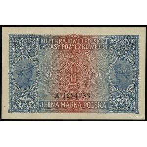 1 marka polska 9.12.1916, jenerał, seria A, numeracja 1...