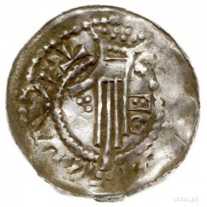 Henryk II 1002-1024, denar, Esslingen, Aw: Popiersie w ...