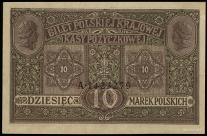 10 marek polskich 9.12.1916, Generał, Biletów, seria A,...