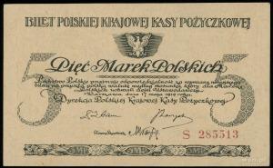 5 marek polskich 17.05.1919, seria S, numeracja 285513,...